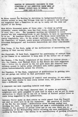 HAG Inaugural Meeting 1979 minutes 1