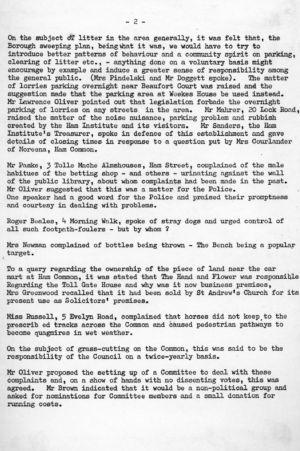 HAG Inaugural Meeting 1979 minutes 2