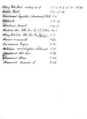 HDC Index 1930-1933 A