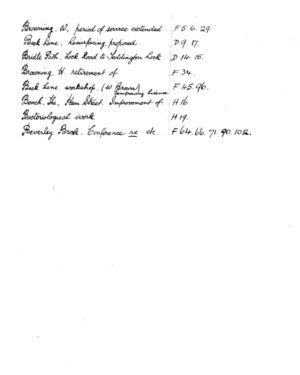 HDC Index 1930-1933 B