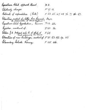 HDC Index 1930-1933 E