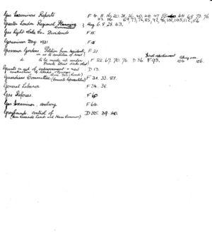 HDC Index 1930-1933 G