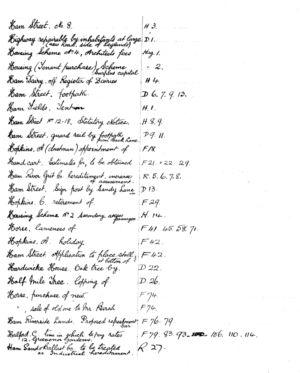 HDC Index 1930-1933 H