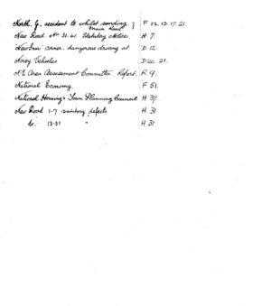 HDC Index 1930-1933 N
