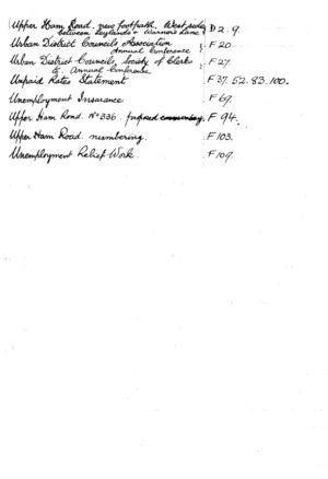 HDC Index 1930-1933 U