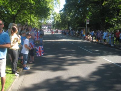 Ham Common Olympic Torch passes (1) July 2012