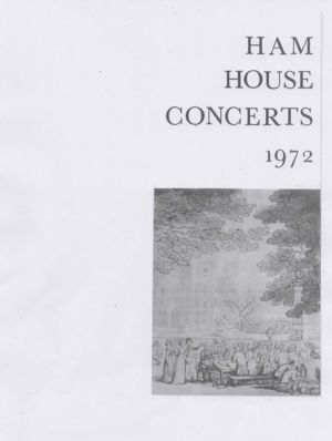 Ham House Concerts1972