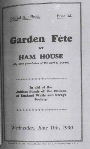 Ham House Fete 1930