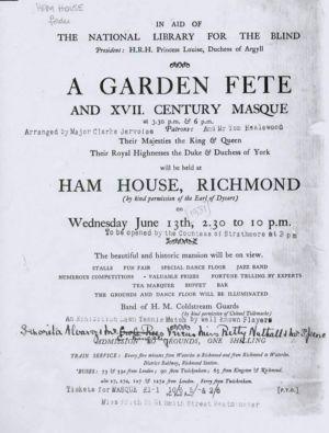 Ham House Garden Fete 1931