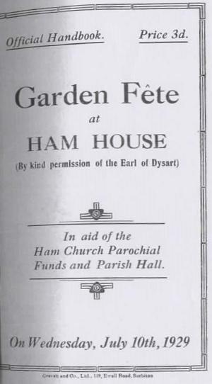 Ham House Handbook Cover Garden 1929