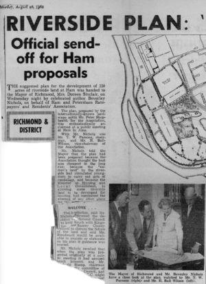 Ham Lands Newspaper Article 1 Aug 20th 1966