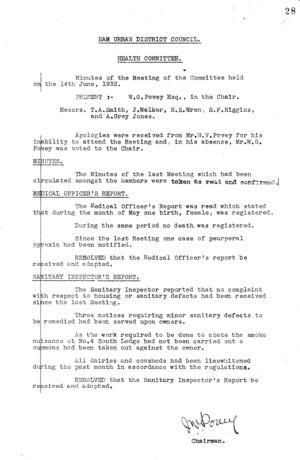 Health Committee 08 14 Jun 1932