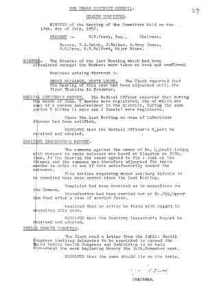 Health Committee 09 12 Jul 1932