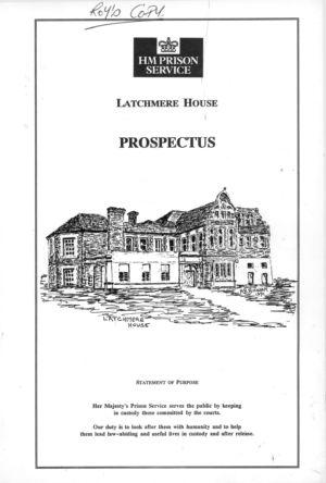 Latchmere House Prison Prospectus 1991 01