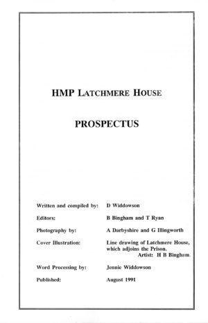 Latchmere House Prison Prospectus 1991 02