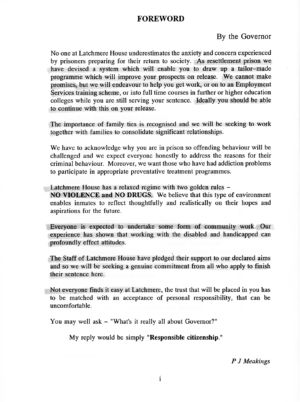 Latchmere House Prison Prospectus 1991 03