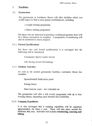 Latchmere House Prison Prospectus 1991 14