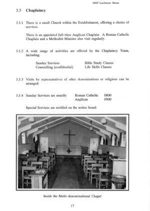 Latchmere House Prison Prospectus 1991 18