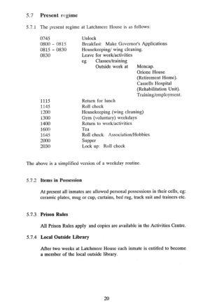 Latchmere House Prison Prospectus 1991 20