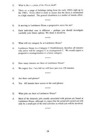Latchmere House Prison Prospectus 1991 27