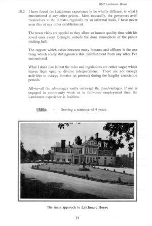 Latchmere House Prison Prospectus 1991 32