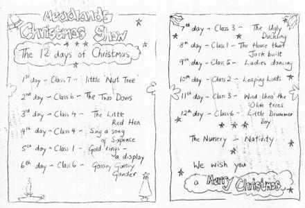 Meadlands Christmas Show Programme